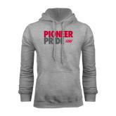 Grey Fleece Hoodie-Pioneer Pride