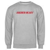 Grey Fleece Crew-Sacred Heart