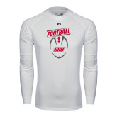 Under Armour White Long Sleeve Tech Tee-SHU Football