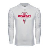 Under Armour White Long Sleeve Tech Tee-Pioneers Geometric Lacrosse Head