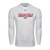 Under Armour White Long Sleeve Tech Tee-Track & Field w/ Bar