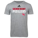 Adidas Sport Grey Logo T Shirt-Adidas Sacred Heart Pioneers Logo