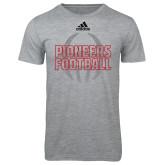 Adidas Sport Grey Logo T Shirt-Adidas Pioneers Football Logo