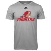 Adidas Climalite Sport Grey Ultimate Performance Tee-Pioneers w/ Pioneer
