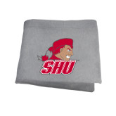 Grey Sweatshirt Blanket-Secondary Logo