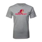 Grey T Shirt-Sacred Heart w/ Pioneer