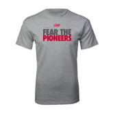 Grey T Shirt-Fear The Pioneers