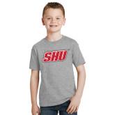 Youth Grey T-Shirt-Primary Logo