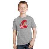 Youth Grey T-Shirt-Secondary Logo
