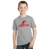 Youth Grey T-Shirt-Pioneers w/ Pioneer