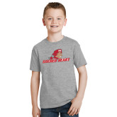 Youth Grey T-Shirt-Sacred Heart w/ Pioneer