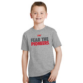 Youth Grey T-Shirt-Fear The Pioneers