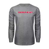 Grey Long Sleeve T Shirt-Sacred Heart