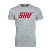 Next Level SoftStyle Heather Grey T Shirt-Primary Logo