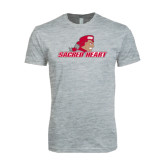 Next Level SoftStyle Heather Grey T Shirt-Sacred Heart w/ Pioneer