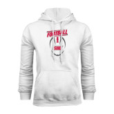White Fleece Hoodie-SHU Football