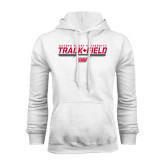 White Fleece Hoodie-Track & Field w/ Bar