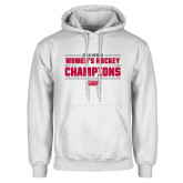 White Fleece Hoodie-2018 Womens Hockey Champions