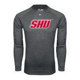 Under Armour Carbon Heather Long Sleeve Tech Tee-Primary Logo