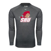 Under Armour Carbon Heather Long Sleeve Tech Tee-Secondary Logo