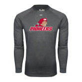 Under Armour Carbon Heather Long Sleeve Tech Tee-Pioneers w/ Pioneer