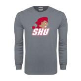 Charcoal Long Sleeve T Shirt-Secondary Logo