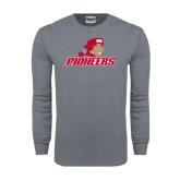Charcoal Long Sleeve T Shirt-Pioneers w/ Pioneer