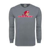 Charcoal Long Sleeve T Shirt-Sacred Heart w/ Pioneer
