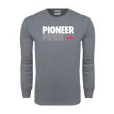 Charcoal Long Sleeve T Shirt-Pioneer Pride