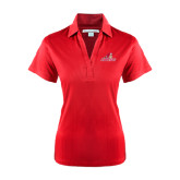 Ladies Red Performance Fine Jacquard Polo-Pioneers w/ Pioneer