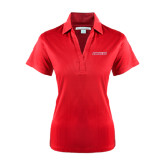 Ladies Red Performance Fine Jacquard Polo-Pioneers