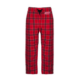 Red/Black Flannel Pajama Pant-Primary Logo