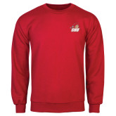 Red Fleece Crew-Secondary Logo