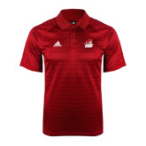 Adidas Climalite Red Jaquard Select Polo-Secondary Logo