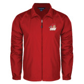 Full Zip Red Wind Jacket-Secondary Logo
