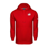 Under Armour Red Performance Sweats Team Hoodie-Secondary Logo