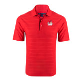Red Horizontal Textured Polo-Secondary Logo