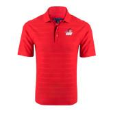 Red Horizontal Textured Polo-Secondary Logo