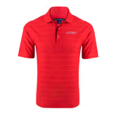 Red Horizontal Textured Polo-Pioneers