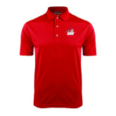Red Dry Mesh Polo-Secondary Logo