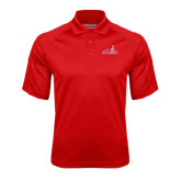 Red Textured Saddle Shoulder Polo-Pioneers w/ Pioneer