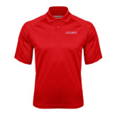 Red Textured Saddle Shoulder Polo-Pioneers