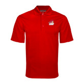 Red Mini Stripe Polo-Secondary Logo