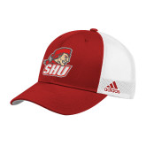 Adidas Red Structured Adjustable Hat-Secondary Logo