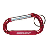 Red Carabiner with Split Ring-Sacred Heart Engraved