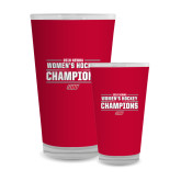 Full Color Glass 17oz-2018 Womens Hockey Champions