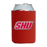 Collapsible Red Can Holder-Primary Logo