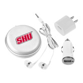3 in 1 White Audio Travel Kit-Primary Logo