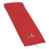 Red Golf Towel-Pioneers w/ Pioneer