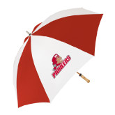62 Inch Red/White Vented Umbrella-Pioneers w/ Pioneer